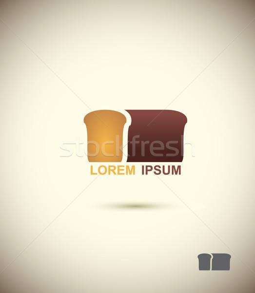 bread logo. Slice of bread. Concept for bakery and bread. Vector Stock photo © popaukropa