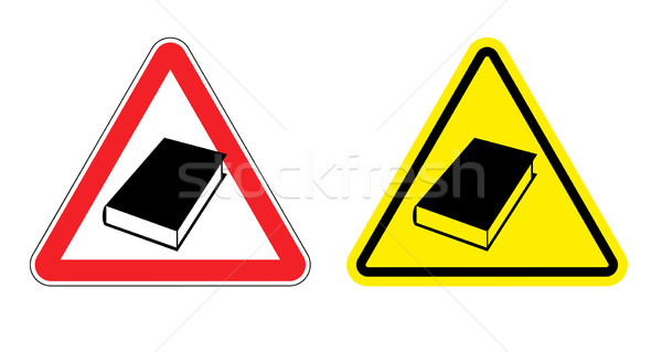 Warning sign formation. Danger of Yellow Book. Silhouette of old Stock photo © popaukropa