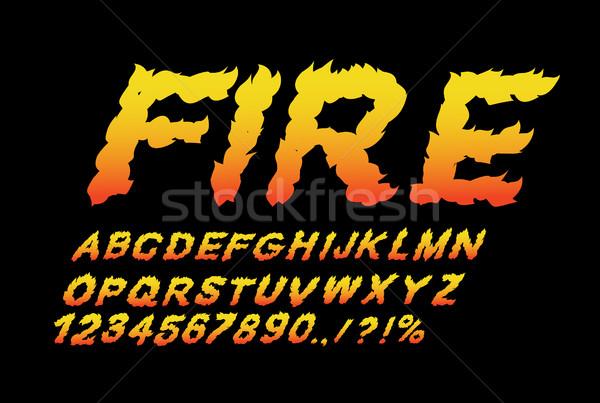 Fuego fuente llama ardiente cartas ardor Foto stock © popaukropa