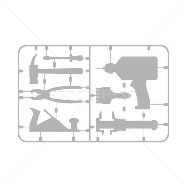 Ferramentas conjunto plástico modelo três de um tipo Foto stock © popaukropa