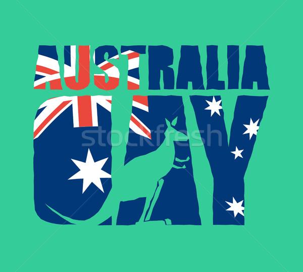 Ausztrália nap embléma ünnep ausztrál zászló Stock fotó © popaukropa