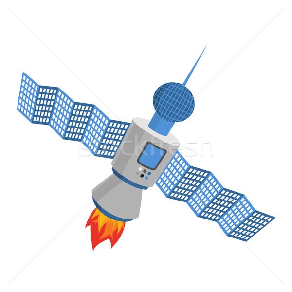 Isolado satélite branco galáxia espaço internet Foto stock © popaukropa