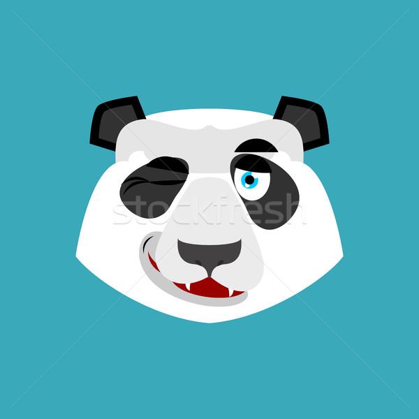 Panda chinês tenha feliz emoção Foto stock © popaukropa