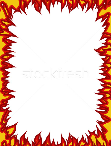 Fire frame. Flames on edges. Flame background Stock photo © popaukropa