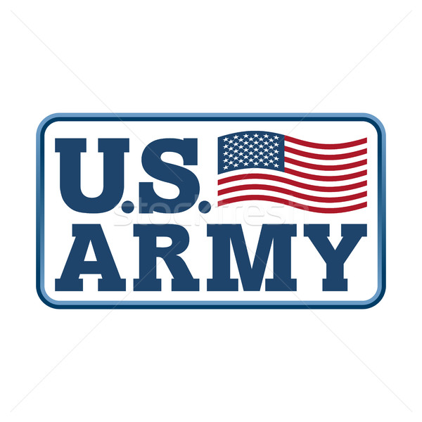 US Army emblem. Flag of America. Armed forces of United States s Stock photo © popaukropa