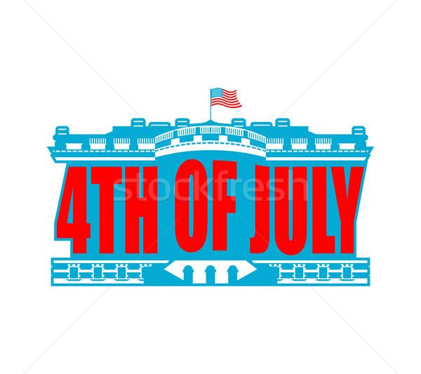 день США эмблема белом доме Америки патриотический Сток-фото © popaukropa