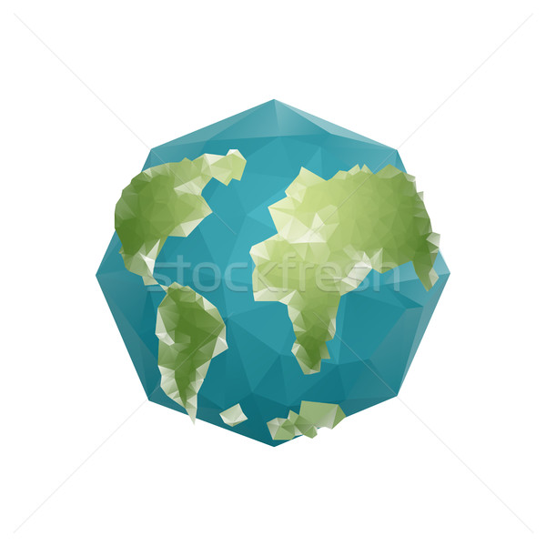 Tierra polígono planeta geométrico figura resumen Foto stock © popaukropa