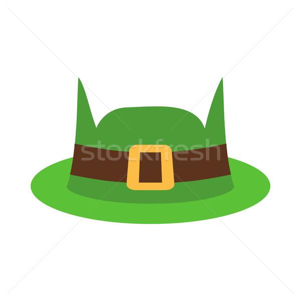 Leprechaun Hat green isolated. National Irish retro cap for dwar Stock photo © popaukropa