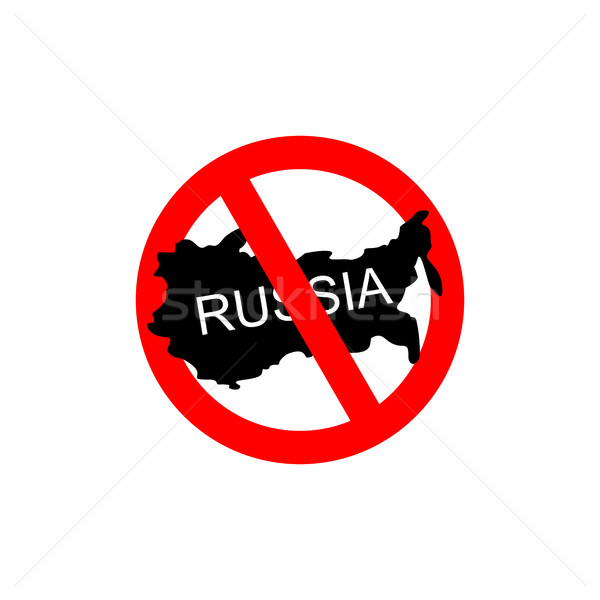 Russia banned. Stop Russian aggressors. Red forbidding sign for  Stock photo © popaukropa
