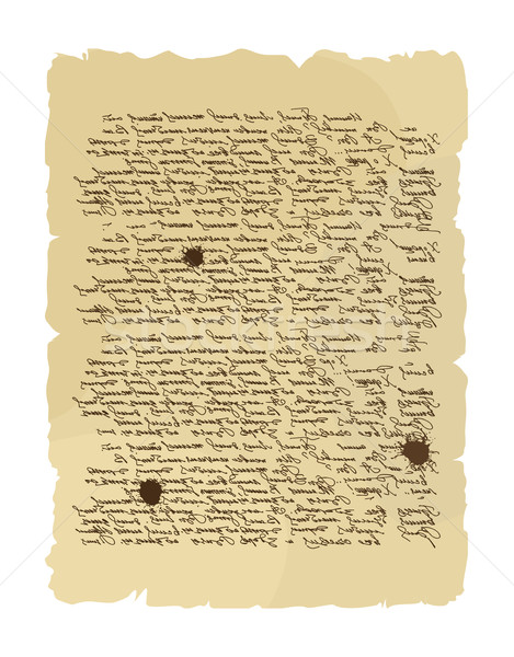 Ancient letter. Archaic order. Abstract messy handwriting. Old m Stock photo © popaukropa