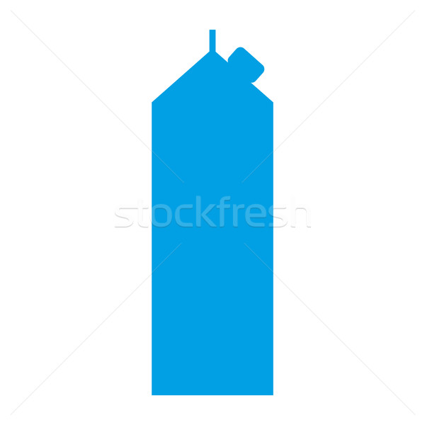 Milk pack icon. dairy package on white background. milky packet  Stock photo © popaukropa