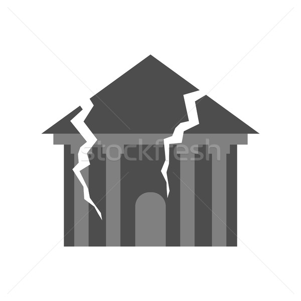 War Broken building. Cracks and splinters of Destroyed facility. Stock photo © popaukropa