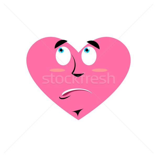 Loves urprised Emoji. Heart astonished emotion Isolated  Stock photo © popaukropa