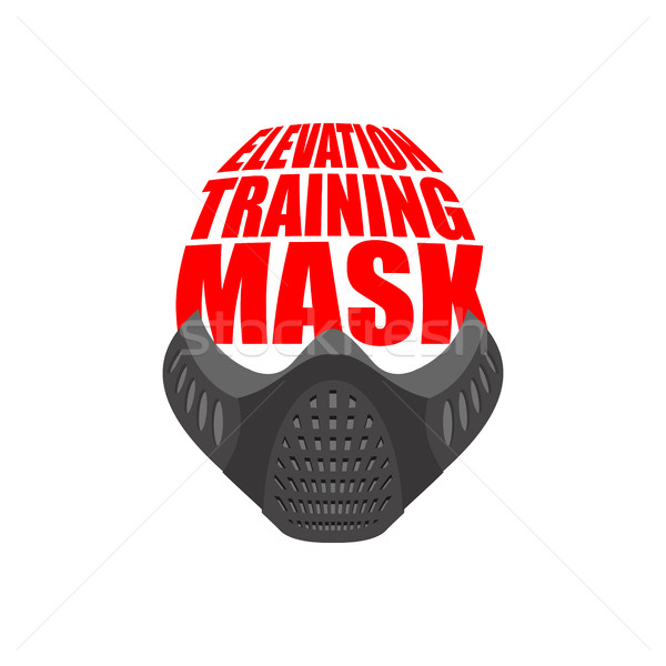 Elevation Training mask fitness. sports accessory for Athlete Stock photo © popaukropa