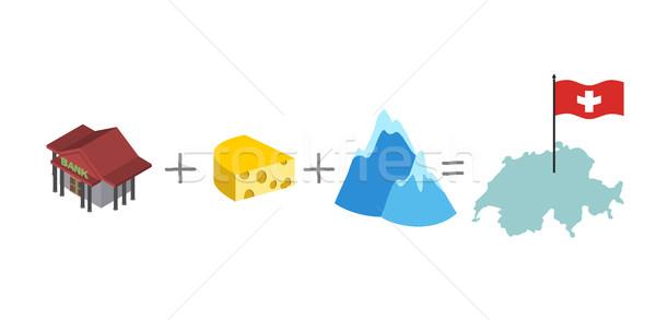 Symboles Suisse mathématique formule banque fromages Photo stock © popaukropa