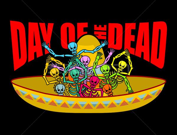 Gün ölü geniş kenarlı şapka kafatası Meksika Stok fotoğraf © popaukropa
