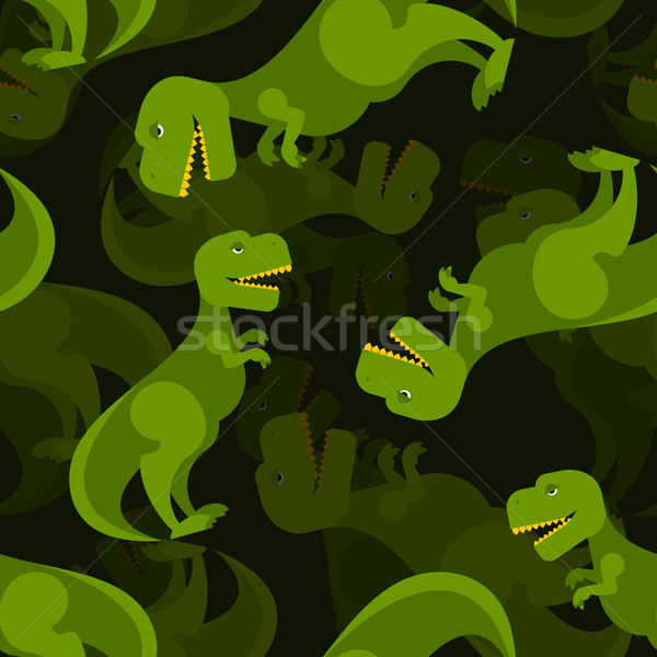 Dinosaur 3d background. Tyrannosaurus seamless pattern. Prehisto Stock photo © popaukropa