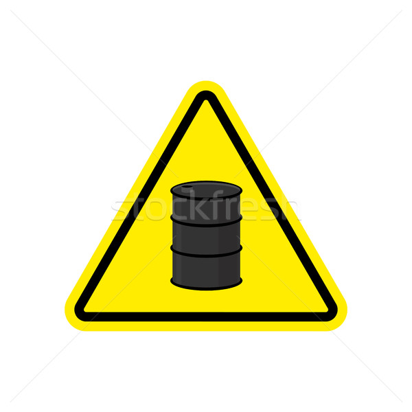 Oil Attention sign. Symbol warning of dangerous petrol barrel. D Stock photo © popaukropa