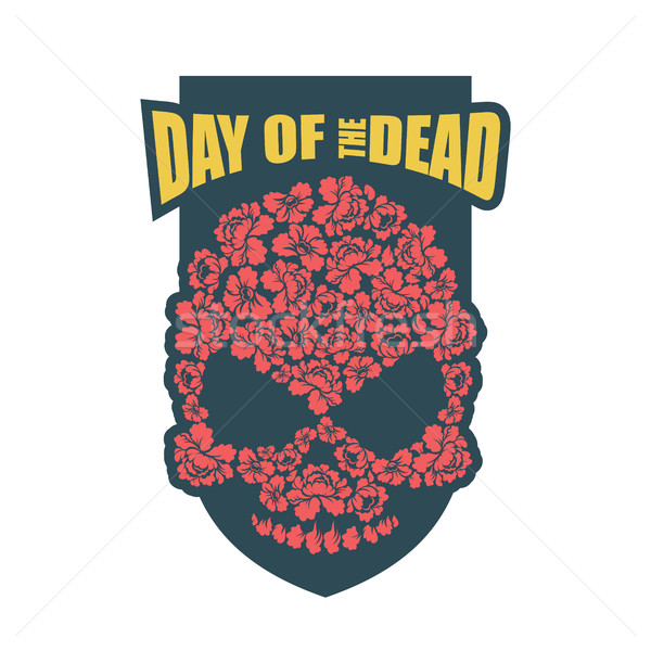 Day of the Dead. Flower skull. Mexico traditional holiday religi Stock photo © popaukropa