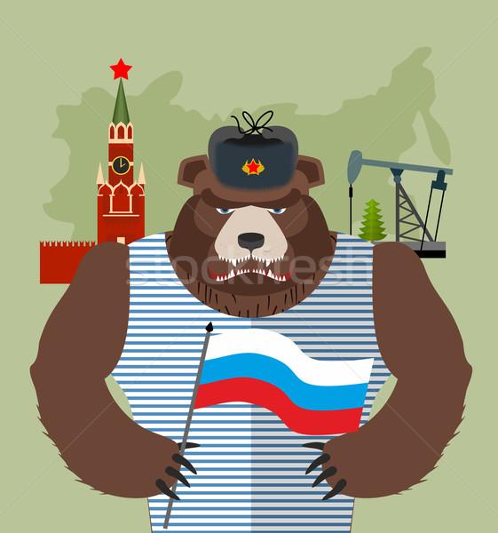 Ours oreille pavillon Russie Moscou Kremlin Photo stock © popaukropa