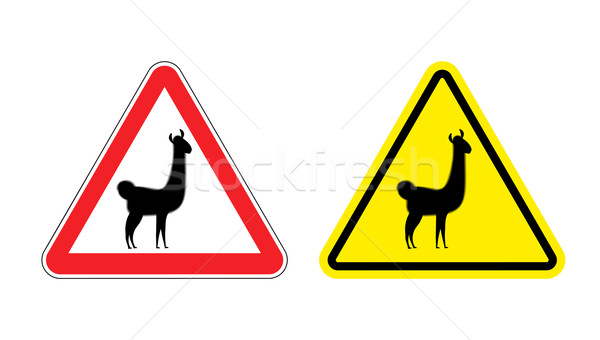 Aandacht risico Geel teken Stockfoto © popaukropa