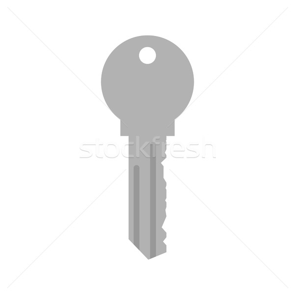 Key from door. Home clef isolated on white background Stock photo © popaukropa