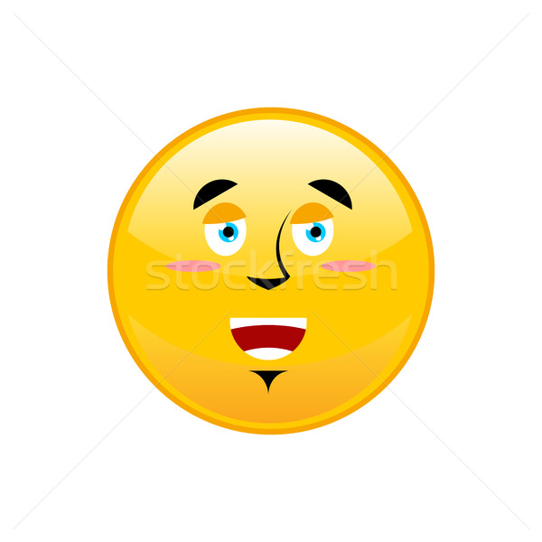 Funny Emoji isolated. Cheerful yellow circle emotion isolated Stock photo © popaukropa