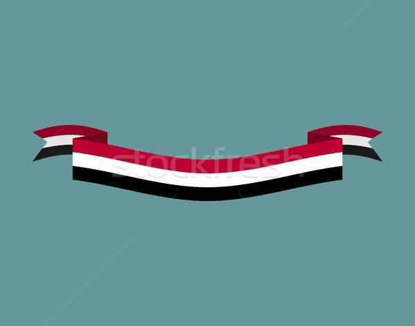 Zászló szalag izolált szalag szalag szimbólum Stock fotó © popaukropa