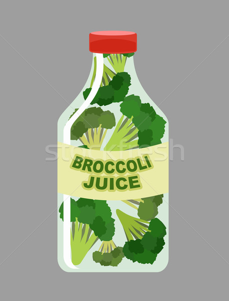 Broccoli juice. Juice from fresh vegetables. Broccoli in a trans Stock photo © popaukropa