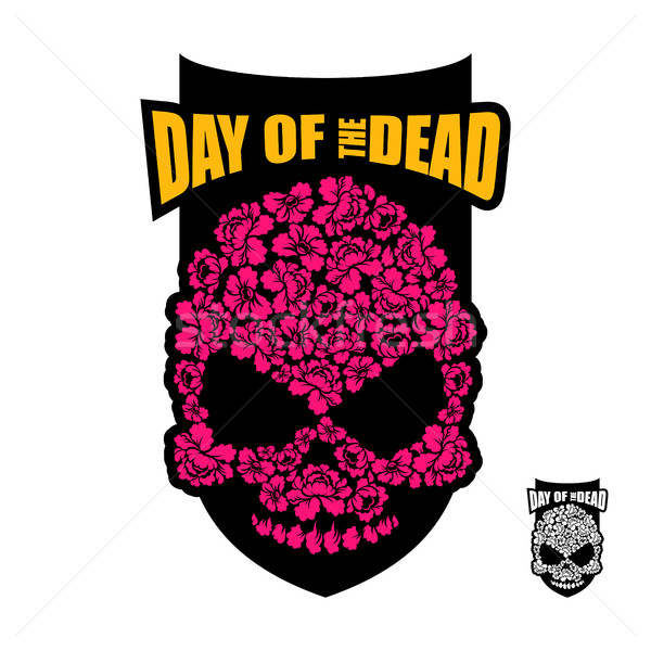Skull of flowers for Day of the Dead. Skeleton head for national Stock photo © popaukropa