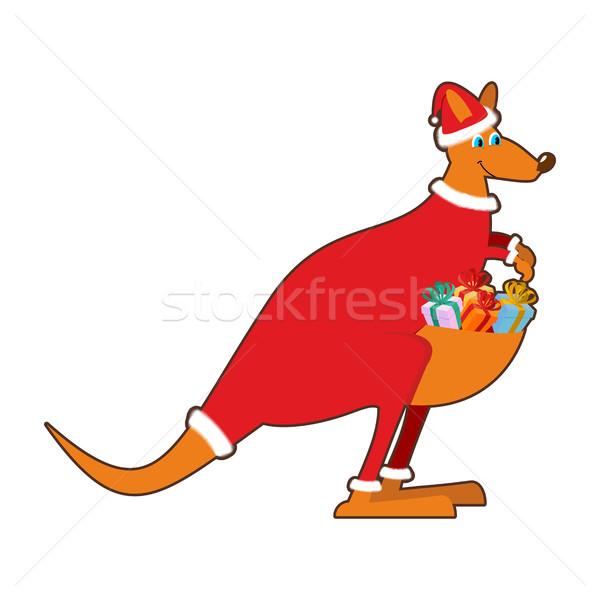 Noel baba Avustralya avustralya kanguru Noel Stok fotoğraf © popaukropa