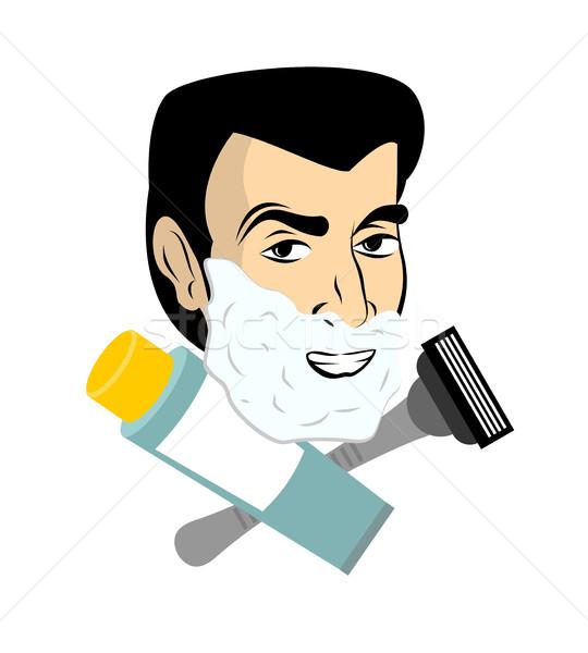 Hombre espuma navaja tubo gel tipo Foto stock © popaukropa