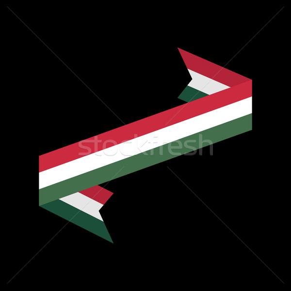 Macaristan bayrak yalıtılmış şerit afiş Stok fotoğraf © popaukropa