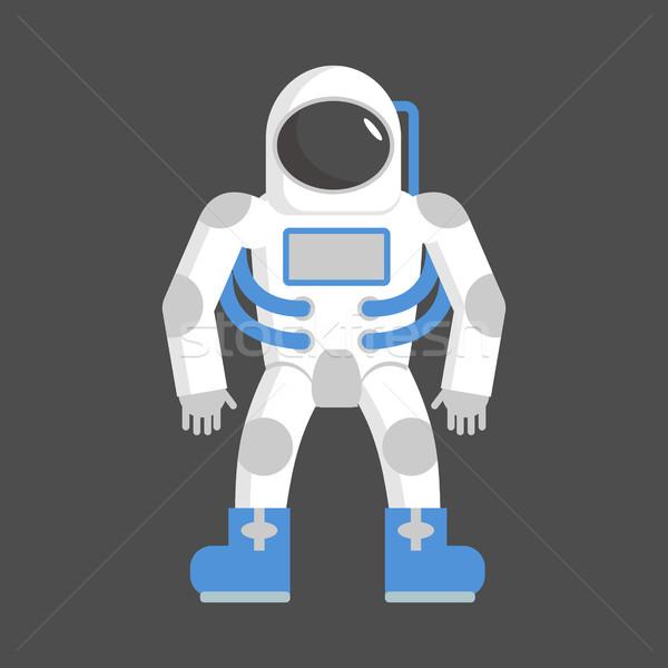 Astronaut geïsoleerd kosmonaut witte ruimte pak Stockfoto © popaukropa