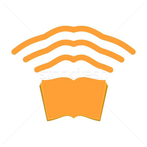 Wifi książki edukacji bezprzewodowej związku szkolenia Zdjęcia stock © popaukropa