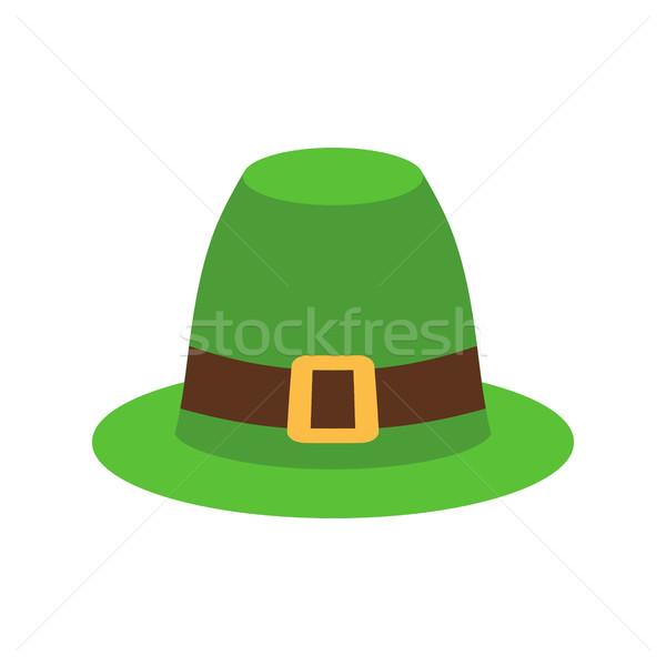 Hat зеленый изолированный ирландский ретро Сток-фото © popaukropa