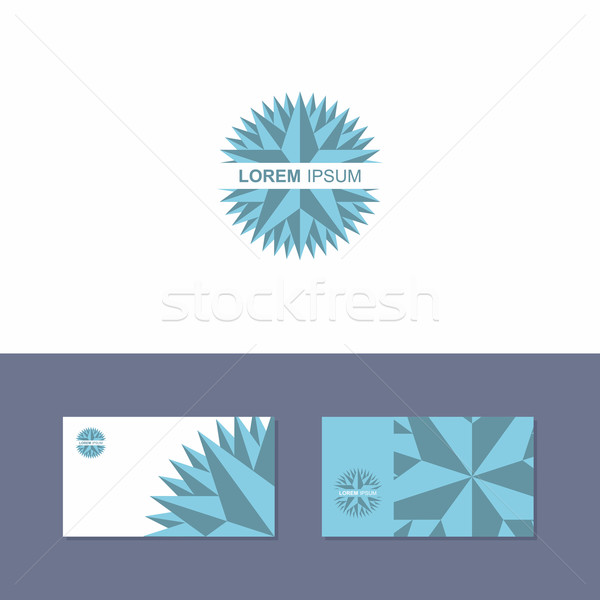 Icon Logo design element with business card template Stock photo © popaukropa