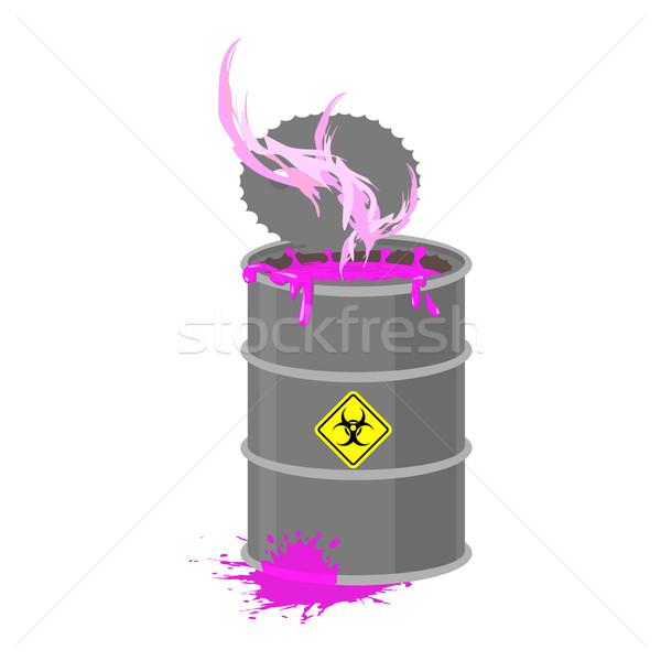 Radyoaktif atık namlu toksik zehirli sıvı Stok fotoğraf © popaukropa