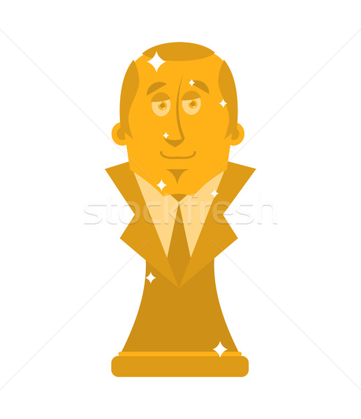 President of Golden Bust. Statuette is a big boss. Modern Treasu Stock photo © popaukropa
