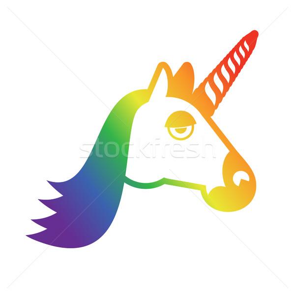 Felirat szivárvány szimbólum leszbikusok transznemű emberek Stock fotó © popaukropa