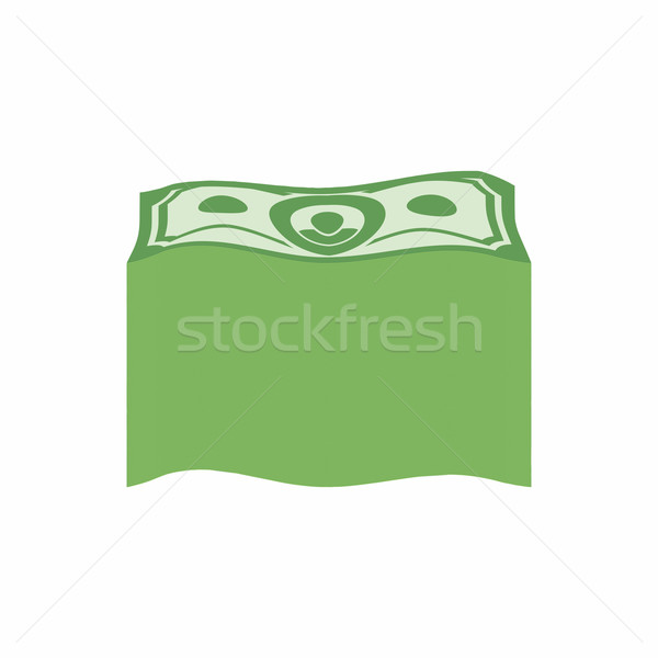 Bundle money. Big pile  dollars. Vector illustration Stock photo © popaukropa