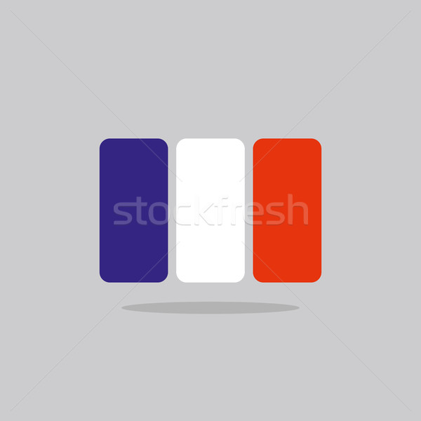 France flag, stylized French flag of geometrical elements. Vecto Stock photo © popaukropa
