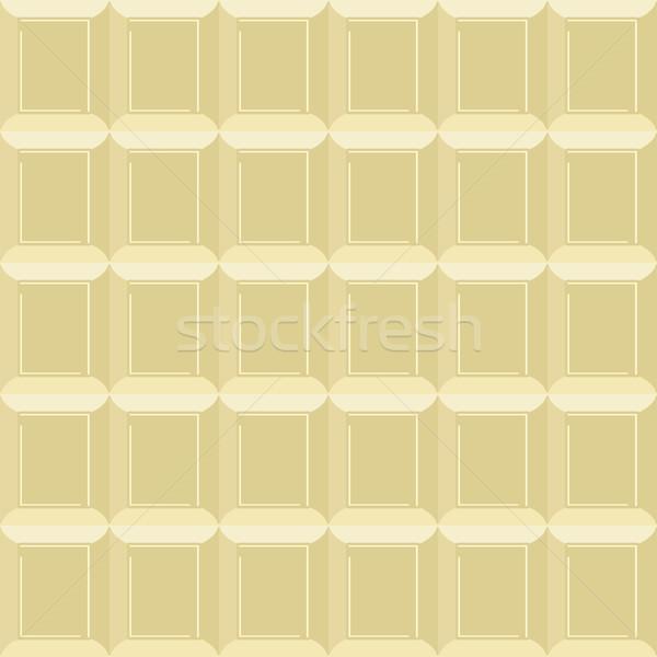 White chocolate seamless pattern. Vector Texture milk chocolate  Stock photo © popaukropa