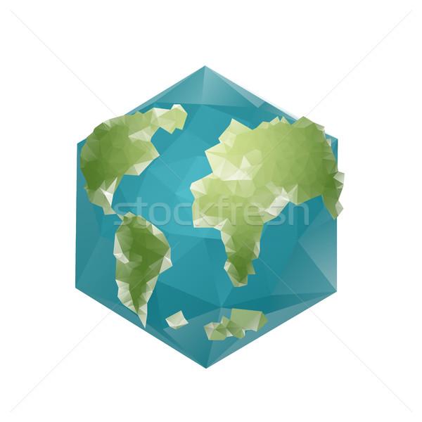 земле многоугольник планеты геометрический Рисунок шестиугольник Сток-фото © popaukropa