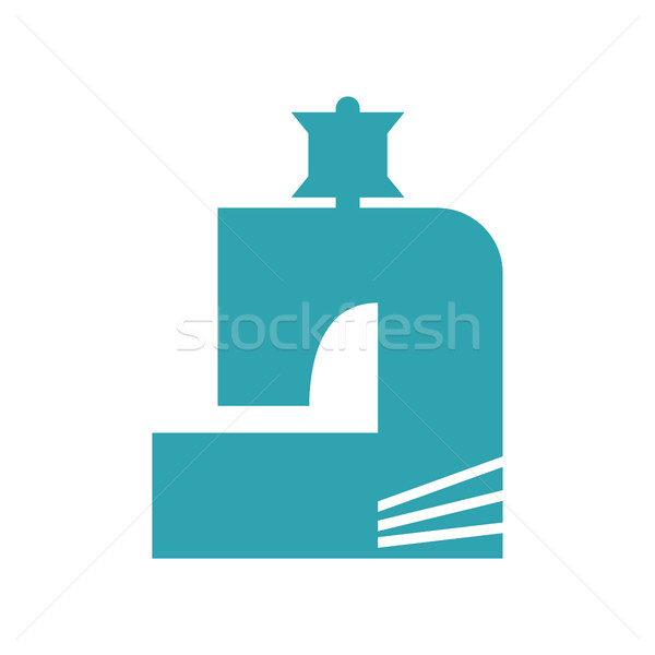 Máquina de costura abstrato logotipo alfaiate emblema assinar Foto stock © popaukropa