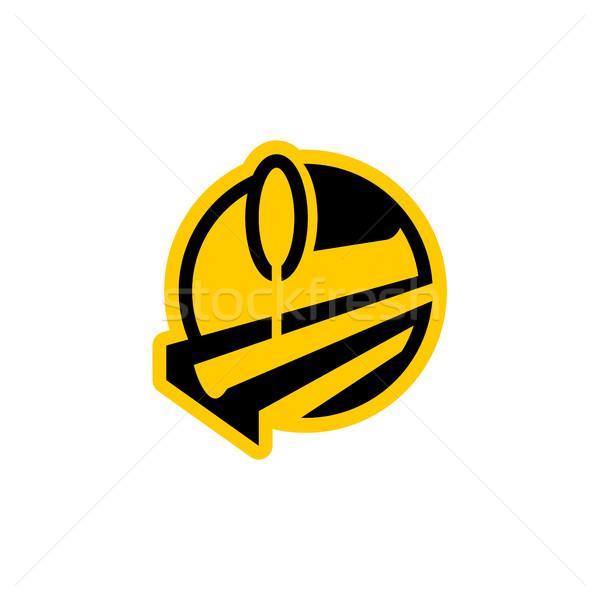 metallurgy logo. Steel-furnace symbol. Melting metal emblem. Hea Stock photo © popaukropa
