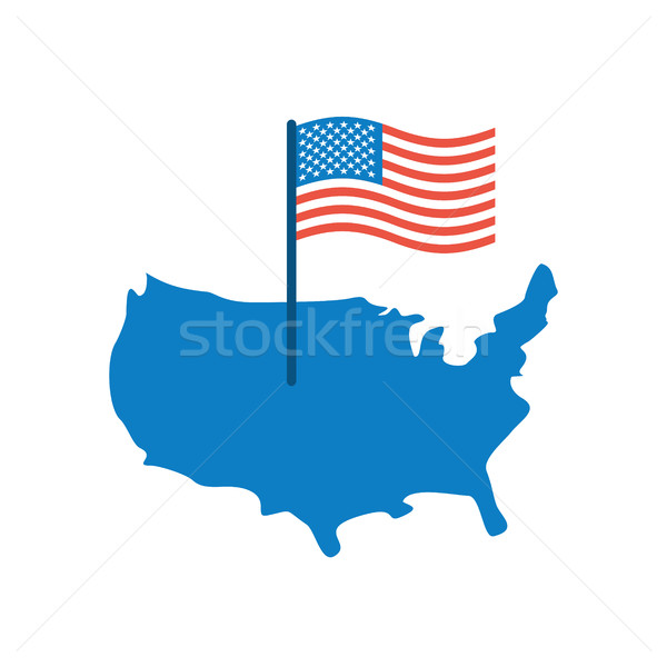 USA Map and Flag. America banner and land area. State patriotic  Stock photo © popaukropa