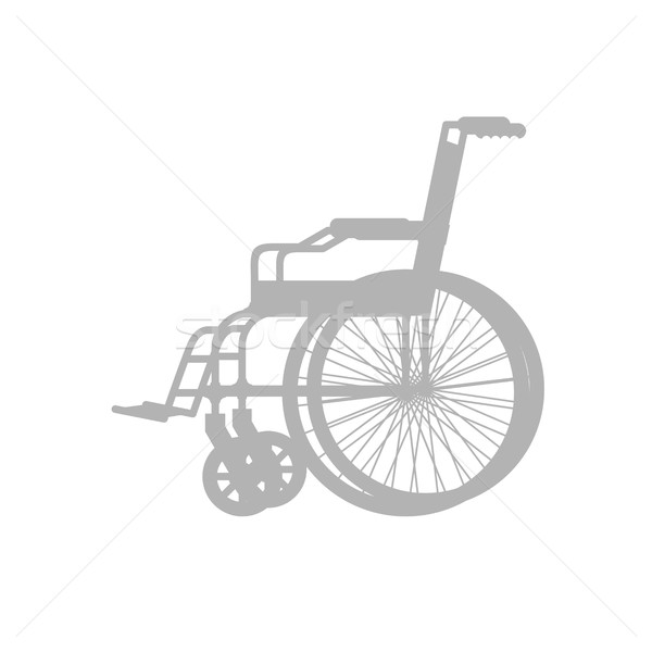Wheelchair silhouette. Stroller with wheels for movement of peop Stock photo © popaukropa