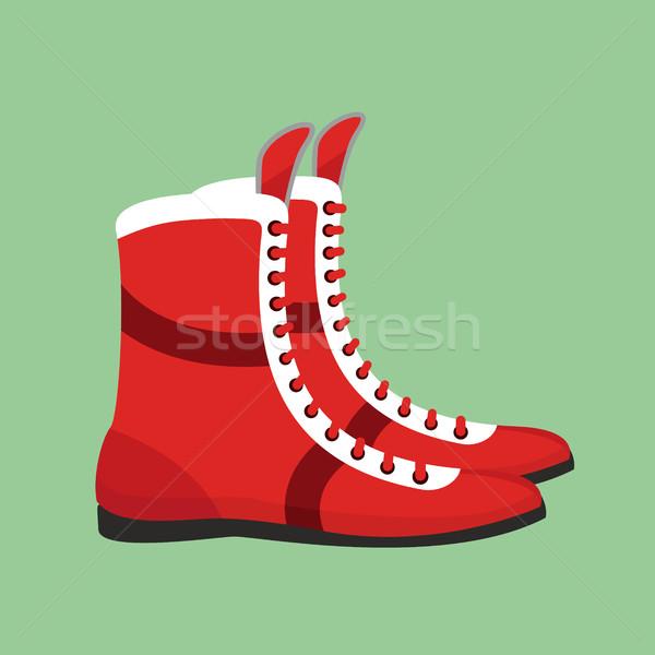 бокса обувь ретро Боксер подготовки спорт Сток-фото © popaukropa