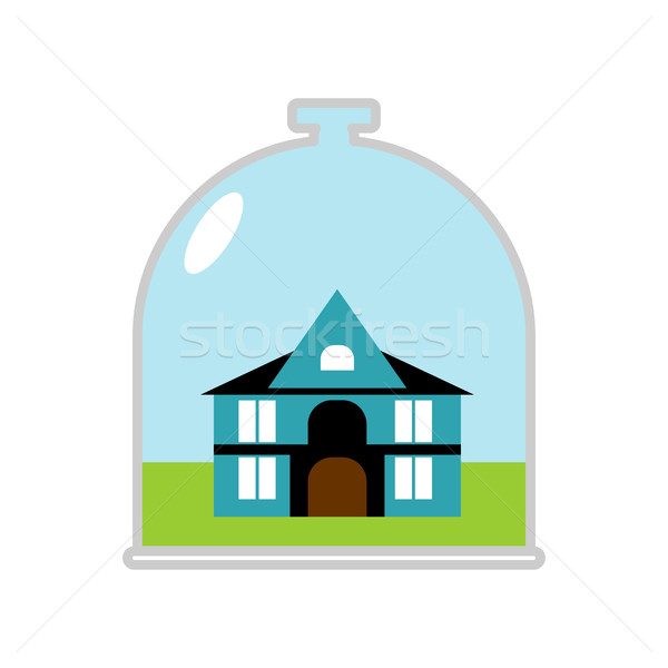 house Glass Bell. Protective canopy over Building. Saving at hom Stock photo © popaukropa